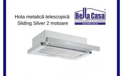 Hota telescopică metalică Sliding Silver
