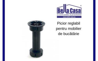 Picior reglabil din material plastic pentru mobilier de bucătărie