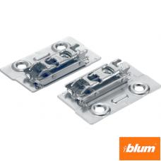 CLIP Plăcuţă de montaj, dreaptă (32 mm), 0 mm, oţel, şuruburi, reglaj pe înălţime: Excentric, dreapta+stânga, pentru rame de aluminiu înguste
