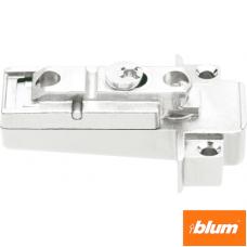CLIP Plăcuţă de montaj, dreaptă (31 mm), 0 mm, Zinc, şuruburi, reglaj pe înălţime: Excentric, pentru rame de aluminiu înguste