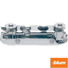 CLIP Plăcuţă de montaj, dreaptă (20/32 mm), 0 mm, oţel, euro-şuruburi premontate, reglaj pe înălţime: Excentric