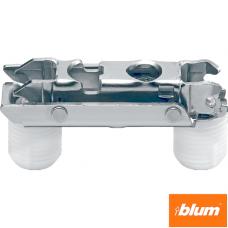 CLIP Plăcuţă de montaj, dreaptă (20/32 mm), 0 mm, oţel, presare, reglaj pe înălţime: Excentric